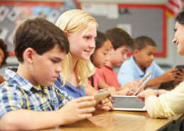 Students Using Tablets in the Classroom